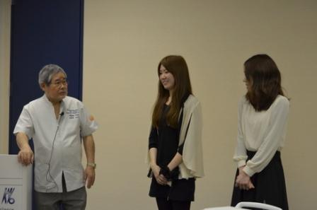 稲葉先生の元医局員の包先生の衛生士さんお二人にご協力いただきました